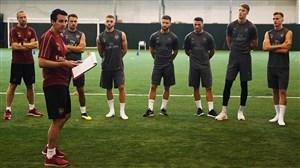 اولین تمرین اونای امری سرمربی جدید آرسنال با بازیکنان تیم