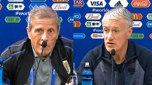صحبت های سرمربی فرانسه و اروگوئه دریاره تیم مقابل
