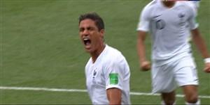 گل اول فرانسه به اروگوئه (واران)