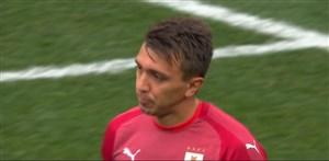 گل دوم فرانسه به اروگوئه توسط گریزمان روی اشتباه موسلرا