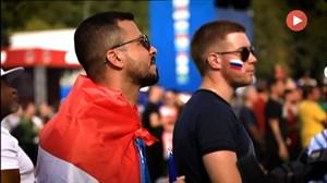 جو حاکم بر مسکو در حین بازی اروگوئه - فرانسه