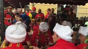 هواداران بلژیک پیش از بازی حساس با فرانسه