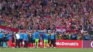 واکنشهای هواداران و بازیکنان بعد از صعود کرواسی به فینال