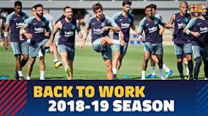 شروع تمرینات آماده سازی بارسلونا برای فصل 19-2018
