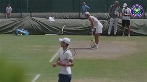 تمرین نادال و جوکوویچ در کنار هم قبل از رویارویی