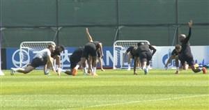 تمرین تیم ملی انگلیس برای بازی در رده بندی