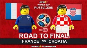 مسیر فرانسه و کرواسی تا فینال جامجهانی 2018 به روایت لگوها
