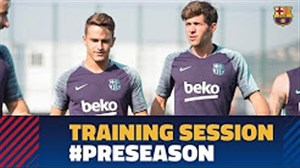 گزیده ای از تمرینات امروز بازیکنان بارسلونا (22-04-97)