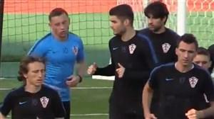 تمرین تیم ملی کرواسی پیش از فینال جام جهانی 2018