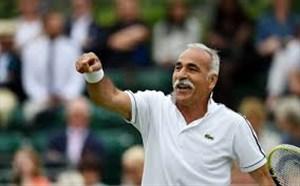 ضربه استثنایی منصوربهرامی در تنیس ویمبلدون