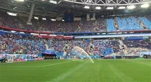 حال و هوای استادیوم سن پترزبورگ پیش از ردهبندی(اختصاصی)