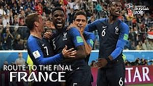 مسیر راهیابی تیم ملی فرانسه به فینال جام جهانی 2018