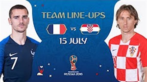 شماتیک ترکیب فرانسه و کرواسی در فینال جام جهانی