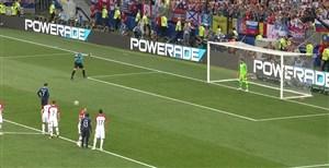 گل دوم فرانسه به کرواسی (پنالتی-گریزمان)