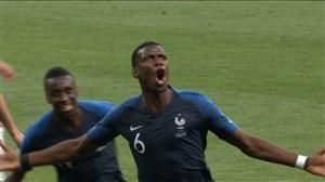 گل سوم فرانسه به کرواسی (پوگبا)