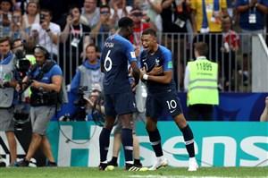 فرانسه 4- کرواسی 2؛ تاج خروس دو تا شد