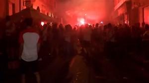 خوشحالی مردم کرواسی پس از کسب نایب قهرمانی