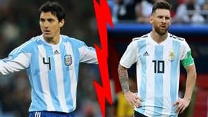 ماجرای حذف دائمی مدافع آرژانتین توسط مسی