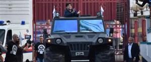 معارفه مارادونا در بلاروس با زره پوش!