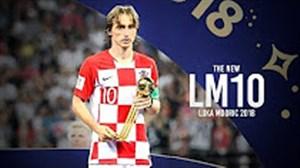 لوکا مودریچ ; بهترین بازیکن جام جهانی 2018