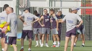 تمرین های آماده سازی تیم بارسلونا برای فصل 19-2018