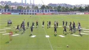 تمرینات آماده سازی بازیکنان رئال مادرید (26-04-97)