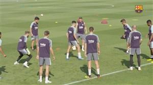 تمرین امروز تیم بارسلونا (27-04-97)