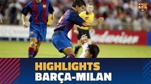 برترین لحظات دیدارهای قبلی بارسلونا - آث میلان در تور آمریکا