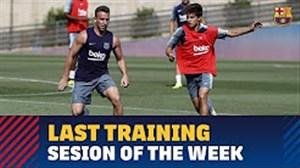جلسه تمرین آخر هفته تیم بارسلونا