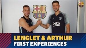 اولین تمرین لنگلت و آرتور در بارسلونا (31-05-97)