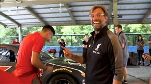 چالش جذاب تیم لیورپول در گاراژ اتومبیلهای ناسکار