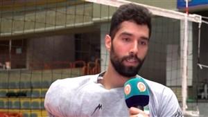 صحبتهای بازیکنان در تمرین تیم ملی والیبال ایران