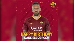 تبریک تولد 35 سالگی دانیلهدروسی توسط باشگاه رم
