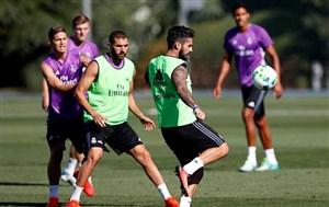 همکاری زیبای بازیکنان رئال مادرید در تمرین