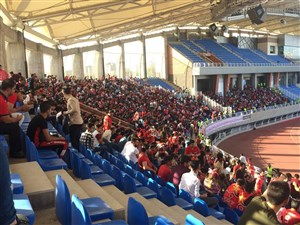 استادیوم امام رضا کاملا سرخپوش شد