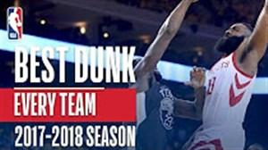 برترین اسلم دانک های هر تیم در فصل 18-2017 بسکتبال NBA