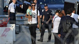 ورود رونالدو و خانواده به شهر تورین برای آغاز تمرینات