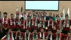 بدرقه تیم ملی فوتبال امید به مسابقات آسیایی جاکارتا