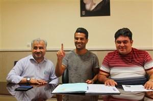 صحبت های مسعود شجاعی پس از ثبت قرارداد در هیئت فوتبال