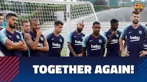 تمرینات آماده سازی بازیکنان بارسلونا (16-05-97)