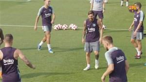 تمرین امروز بارسلونا با حضور ستاره ها (17-05-97)