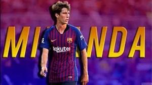 عملکرد خوان میراندای 18ساله درتیمBبارسلونا درفصل 18-2017