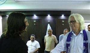 حضور هافبک عراقی در رختکن استقلال