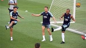 بهترین لحظات تمرین بارسلونا پیش از سوپر کاپ