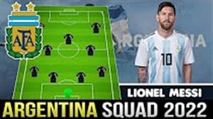 ترکیب احتمالی تیم ملی آرژانتین در سال 2022