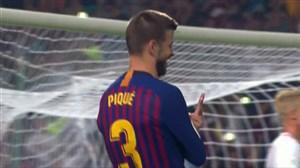 گل اول بارسلونا به سویا (پیکه)