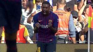 گل اول بارسلونا به بوکاجونیورز (مالکوم)