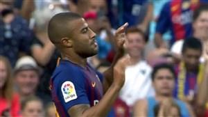 گل سوم بارسلونا به بوکاجونیورز (رافینیا)