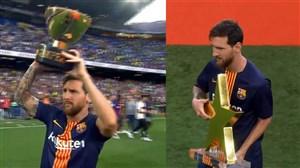 مراسم اهدای جوایز بازی بارسلونا و بوکاجونیورز