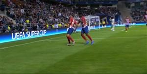 گل سوم اتلتیکو به رئال مادرید با شوت زیبای سائول